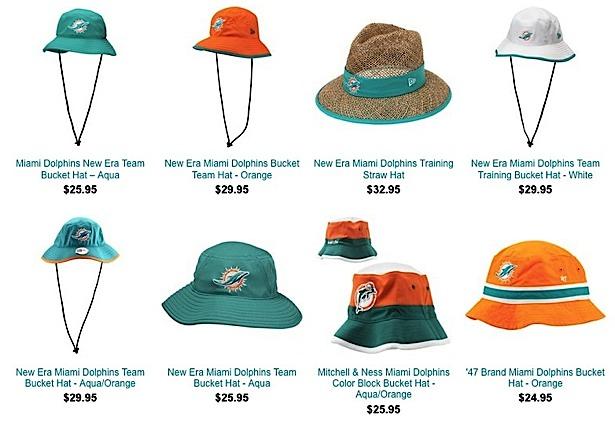 Por S Miami Dolphins Fan. Lyst ktz miami dolphins tc training bucket hat ... 551cc55c77e6